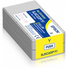 Cartouche d'encre couleur Jaune Imprimante Etiquettes EPSON ColorWorks 3500