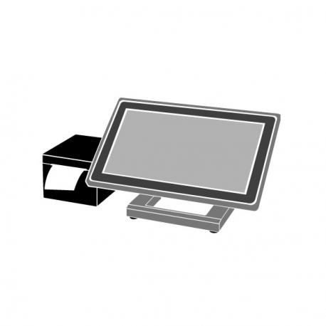 Pack Caisse Tactile AURES Yuno 15 pouces i5 (TPV + Imprimante tickets thermique)